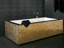 Bath with golden mosaics