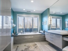 Bathroom in turquoise