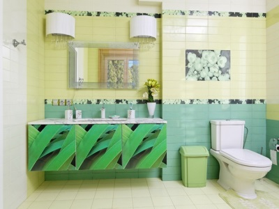 Art Deco style in the bathroom