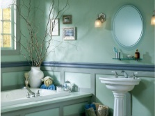Turquoise in the bathroom with other colors