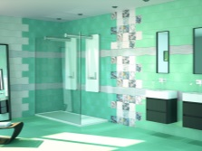 Turquoise tiles for bathroom