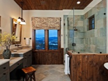 Bathroom - design in country style