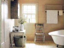 Bathroom design in country style