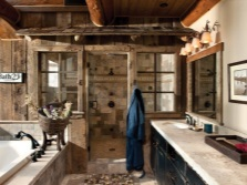 Beautiful country-style bathroom