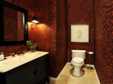 Claret brown bathroom