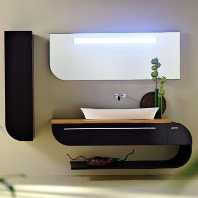 Hanging bathroom furniture