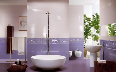 Beautiful purple bathroom