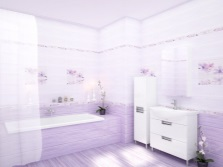 Dark purple bathroom
