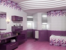 White and purple bathroom