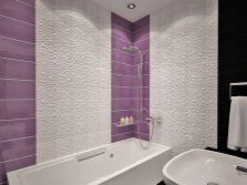 Beautiful white and purple tiles