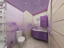 Stylish lilac bathroom