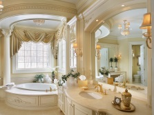 Beautiful modern bathroom in a classic style