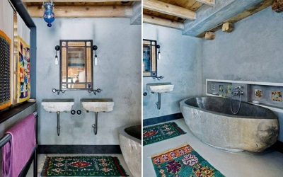 Bathroom in ethnic style