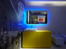 Modern high-tech bathroom