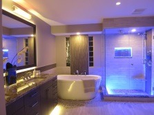 Bathroom in the style of hi -tech