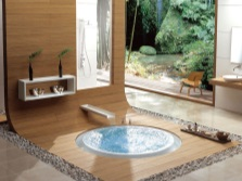 Modern bathroom in the Japanese style