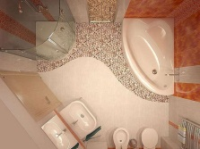 The modern layout of the bathroom