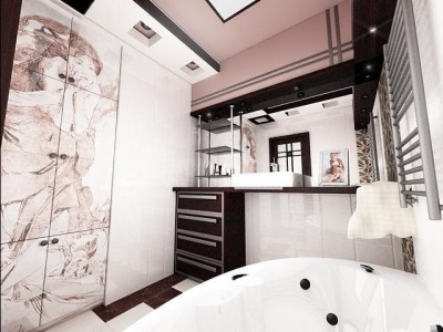 The design of the bathroom without toilet room