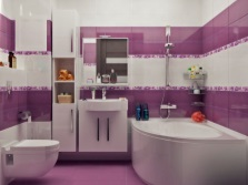Option walls in the bathroom