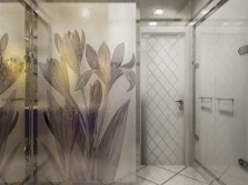 Glass decorative solid partition