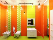 Bathroom - lime and orange