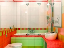 Bathroom - lime and red