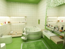White- lime soft bathroom