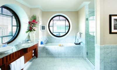 Round window in the bathroom