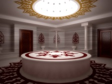 Lighting in the hammam