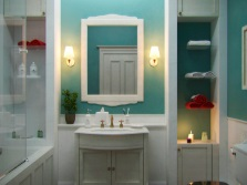 Muted colors - bathroom in the style of Provence