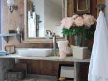 Sink in the style of Provence in the bathroom