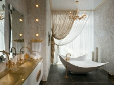 Beautiful bathroom in a classic style