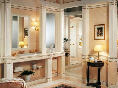 Bathroom in classical architecture