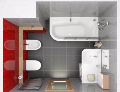 Bathroom without walls