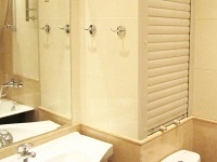 Shutters on the toilet and bathroom