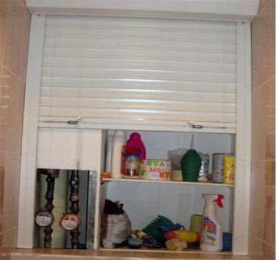 Shelves for roller shutters