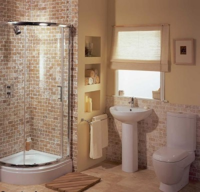 Combined small bathroom
