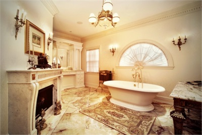 Bathroom in classical style