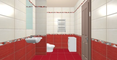 3D-visualization of the bathroom