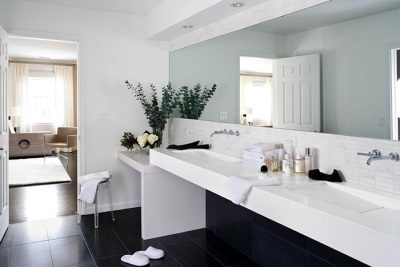 Minimalism in design of a bathroom