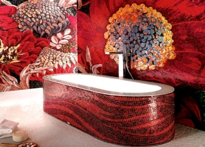 Bathroom design mosaic room