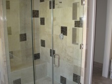 Clear glass for shower