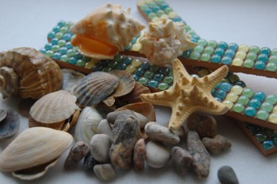 Pebbles from the sea for bathroom design