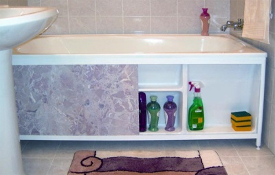 Places for storing bath screen