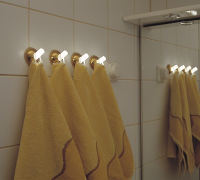Glow hooks for towels