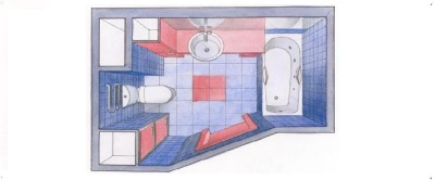 Project placement of furniture and sanitary ware