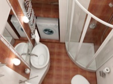 The project is a small bathroom with special designs