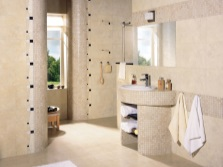 Beige bathroom full of light