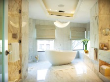 Beautiful beige bathroom