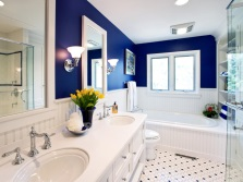 Stylish Blue bathroom